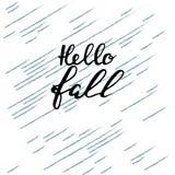 Hello-Daling borstelhand het van letters voorzien, inspirerende citaten Motivatiemo Royalty-vrije Stock Afbeelding