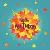 Hello-de herfst Stock Foto