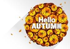 Hello-de herfst royalty-vrije illustratie