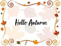 Hello-de herfst Stock Afbeeldingen