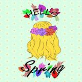 Hello-de Lente vector illustratie