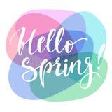 Hello-de lente kleurrijke affiche Royalty-vrije Stock Afbeelding