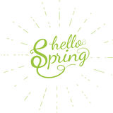 Hello-de lente vectoraffiche Royalty-vrije Stock Afbeeldingen