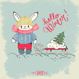 Hello-de winter! stock illustratie