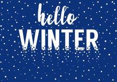 Hello-de Winter, vectorachtergrond Stock Foto's