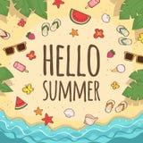 Hello-de zomer Royalty-vrije Stock Fotografie
