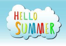 Hello-de zomer Stock Afbeeldingen
