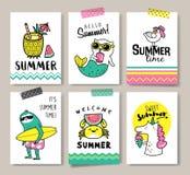 Hello-de zomer vector illustratie