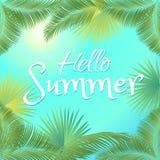 Hello-de zomer Stock Foto