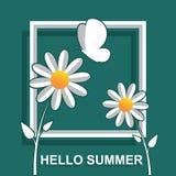 Hello-de zomer met 3d effect Stock Illustratie