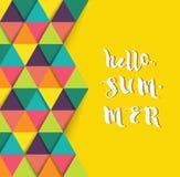 Hello-de zomer super kleurrijk ontwerp Royalty-vrije Stock Foto