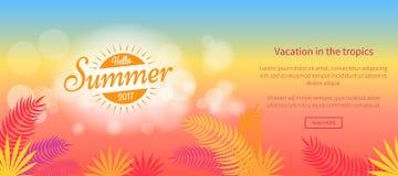 Hello-de Zomer van 2017 Vakantie in het Vectorweb van Keerkringen vector illustratie