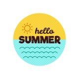 Hello-de zomer Vector illustratie Stock Foto