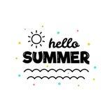 Hello-de zomer Vector illustratie Stock Fotografie
