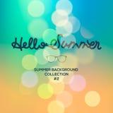 Hello-de zomer, zomer vage achtergrond Stock Afbeeldingen