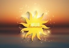 Hello-de zomerachtergrond Stock Fotografie