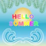Hello-de zomerachtergrond Royalty-vrije Stock Foto