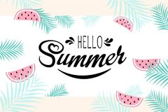 Hello-de zomerteken Royalty-vrije Stock Fotografie