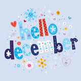 Hello december Stock Illustration