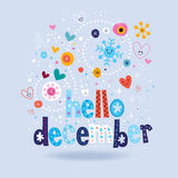 Hello december royalty free illustration