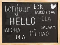 Hello in different languages Stock Images