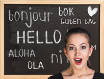 Hello in different languages Royalty Free Stock Image