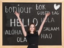 Hello in different languages Royalty Free Stock Photos