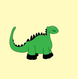 Hello Dino Cartoon. Cute Dino Cartoon for website, marketing, public advertaising, fun design for wallpaper, drawing book, poster Royalty Free Illustration
