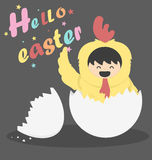 Hello easter vector illustration