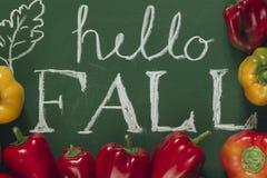 Hello Fall Stock Photo