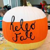 Hello Fall stock image