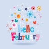 Hello February Royalty Free Stock Photo