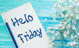 Hello friday inspirational quotes stock photos 2 images hello friday inspirational quotes hello friday quotes lettering for postcards business ideas announcements voltagebd Images