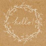 Hello greeting card Stock Photo