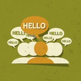 Hello Group with speech bubbles Royalty Free Stock Images