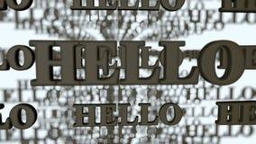 Hello hög upplösning för visuella hälsningar arkivbild