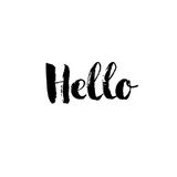 Hello - hand drawn lettering design vector vector illustration