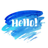Hello - hand drawn lettering Stock Photo