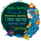 Hello Happy Spring Royalty Free Stock Images