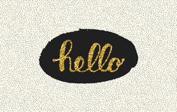 Hello-het van letters voorzien met punt op witte achtergrond Royalty-vrije Stock Fotografie