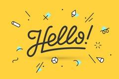 hello Het van letters voorzien voor banner Royalty-vrije Stock Fotografie