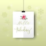 Hello Holiday 1 Stock Photo