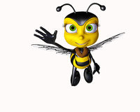 Hello honey bee Stock Photo