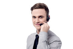 Hello ! How may i help you ? Royalty Free Stock Image