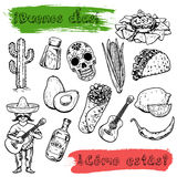 Hello How are you Welcome to Mexico Vector icons Royalty Free Stock Images