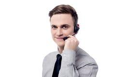 Hello! Hur kan jag hjälpa dig? Royaltyfri Bild
