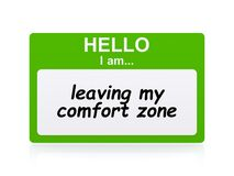 Free Hello I Am Leaving My Comfort Zone Name Tag Stock Photo - 209707730