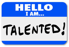 Free Hello I Am Talented Name Tag Job Fair Introduction Networking Stock Images - 38205004