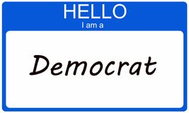 Hello I am a Democrat Royalty Free Stock Photos