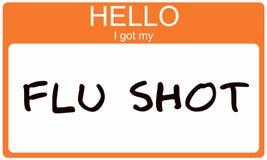 Hello I got my Flu Shot Stock Photos